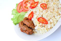 Fried Rice and Beef Royalty Free Stock Images