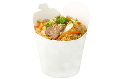 Fried rice with beef Royalty Free Stock Photos