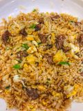 Fried Rice with beef Royalty Free Stock Photography