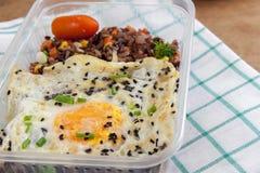 Fried Rice Benjarong tailandés Fotos de archivo