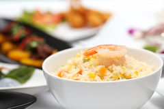 Fried rice in bowl Royalty Free Stock Image