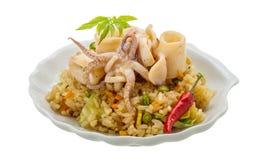 Fried rice with calamari Royalty Free Stock Images