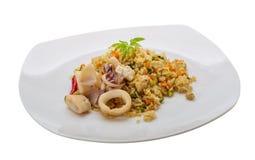 Fried rice with calamari Royalty Free Stock Photos