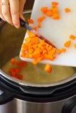 Fried Rice caseiro feito no potenciômetro imediato Fotografia de Stock