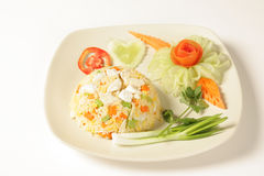 Fried rice with chicken Royalty Free Stock Photos