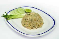 Fried rice. With chicken and egg thai style Royalty Free Stock Photo