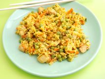 Fried rice with chicken Royalty Free Stock Images