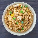 Fried rice chicken stock photos