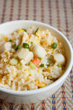 Fried rice with chicken sausage Royalty Free Stock Photography