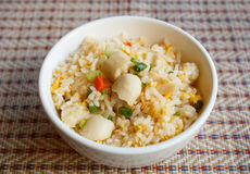 Fried rice with chicken sausage Royalty Free Stock Images