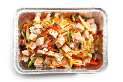 Fried Rice with Chicken Stock Image