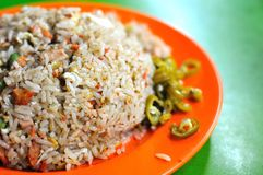 Fried rice with chili Royalty Free Stock Image