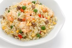 Fried rice, chinese cuisine, yangzhou style Royalty Free Stock Photo