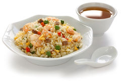 Fried rice, chinese cuisine, yangzhou style Royalty Free Stock Photos