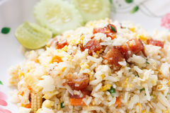 Fried Rice with Chinese Sausage Royalty Free Stock Photo