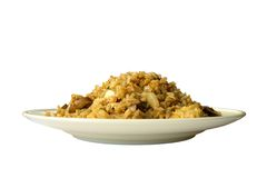 Fried Rice, with Clipping Path Royalty Free Stock Images