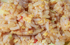 Fried rice. Close up of fried rice with pork, Thai food style Stock Photo