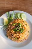 Fried rice. Close up  thai fried rice Stock Photos
