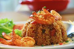 Fried Rice com Tom Yum Kung foto de stock royalty free