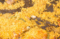 Fried rice cooking Stock Photo