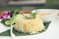 Fried rice with crab Royalty Free Stock Photos