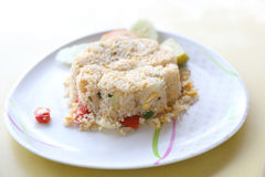 Fried rice with crab Stock Photography