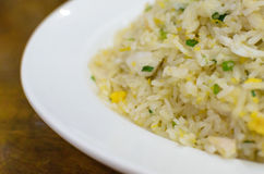 Fried Rice with Crab. Fried Rice with Crab on white plate Royalty Free Stock Photos