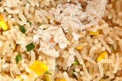Fried rice with crab meat Royalty Free Stock Photography