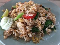Fried Rice with crab meat Royalty Free Stock Photo