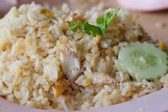 Fried rice with crab meat Royalty Free Stock Photos