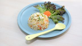 Fried rice with crab. NStreet food, Dinner, seafood, A recipe for Thai traditional. Special dish with a white meat crab , a fresh yellow egg and Thai jasmine Stock Photo
