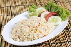 Fried rice with crab on the plate Stock Images