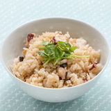 Fried rice with cumin herbs in white bowl Royalty Free Stock Photo