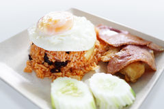 Fried rice with egg Stock Photos