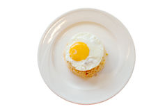 Fried rice and egg Royalty Free Stock Images