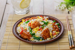 Fried rice with egg Royalty Free Stock Photo