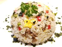Fried Rice with Egg and Parsley royalty free stock photos