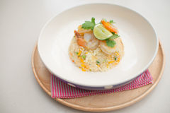 Fried rice egg prawns food Royalty Free Stock Photography