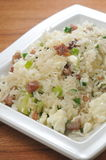 Fried Rice. Egg Spring onion Scramble Fried Rice Royalty Free Stock Image