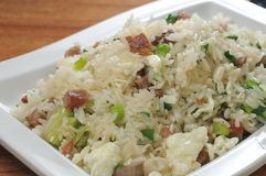 Fried Rice. Egg Spring onion Scramble Fried rice Stock Photography