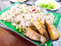 Fried rice with fish Royalty Free Stock Photo