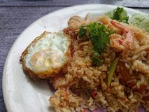 Fried-rice. Rice food lunch fried-egg royalty free stock images