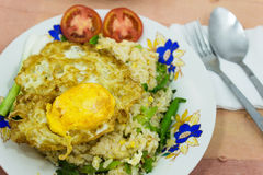 Fried rice and Fried egg Stock Photography