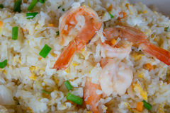 Fried Rice Fried Shrimp Royaltyfri Fotografi