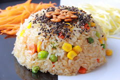 Fried rice grains Royalty Free Stock Photos