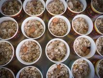 Fried Rice i bunken Royaltyfri Fotografi