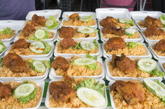 Fried Rice for Iftar Stock Photos