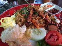 Fried Rice or Indonesian Nasi Goreng in an Ubud Restaurant Stock Photography