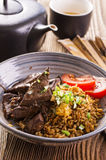 Fried Rice with Liver Royalty Free Stock Photography