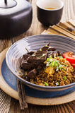 Fried Rice with Liver Stock Image